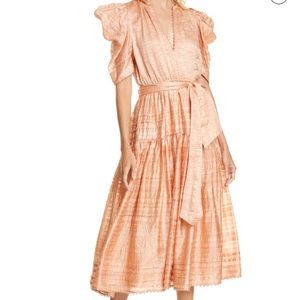 Ulla Johnson Eudora dress in rose silk